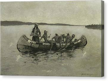 Remington Canvas Print - This Was A Fatal Embarkation by Frederic Remington