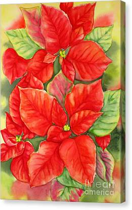 This Year's Poinsettia 1 Canvas Print