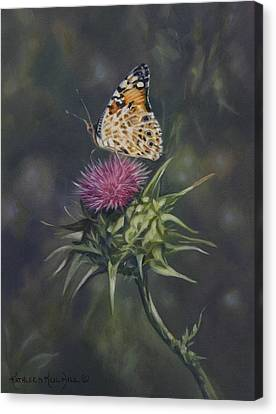 Thistle Dew Canvas Print by Kathleen  Hill