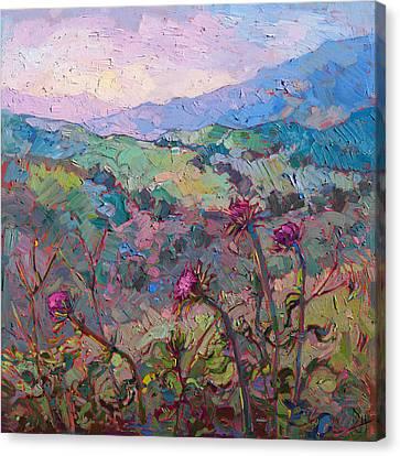 Thistles At Paso Canvas Print by Erin Hanson