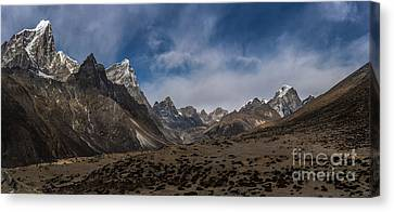 Canvas Print featuring the photograph Thokla Pass Nepal by Mike Reid
