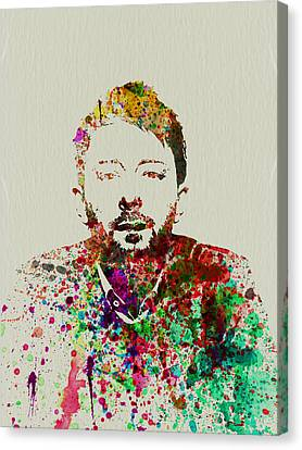 Thom Yorke Canvas Print by Naxart Studio