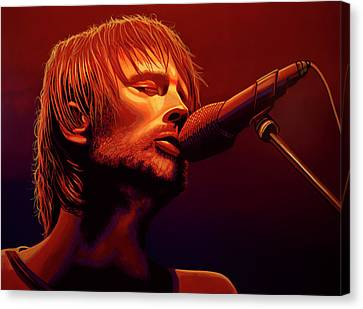 Thom Yorke Of Radiohead Canvas Print by Paul Meijering