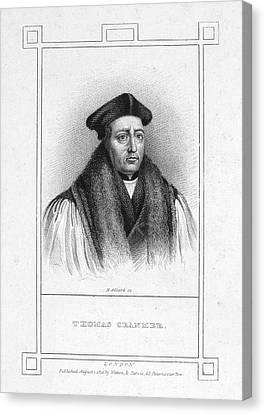 Martyr Canvas Print - Thomas Cranmer (1489-1556) by Granger