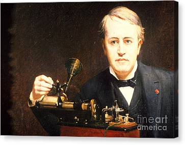 Thomas Edison, American Inventor Canvas Print by Photo Researchers