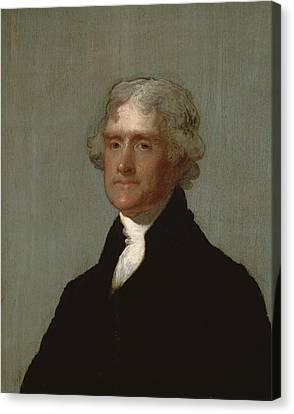 Thomas Jefferson Canvas Print by Gilbert Stuart