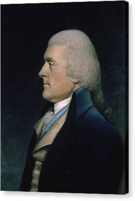 Thomas Jefferson Canvas Print by James Sharples