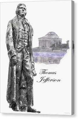 Thomas Jefferson Canvas Print by Mark Stephens
