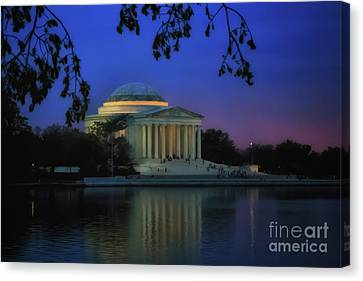 Thomas Jefferson Memorial Sunset Canvas Print