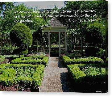 Thomas Jefferson On Gardens Canvas Print