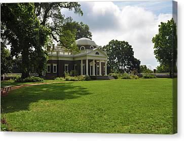 Thomas Jefferson's Monticello Canvas Print by Bill Cannon