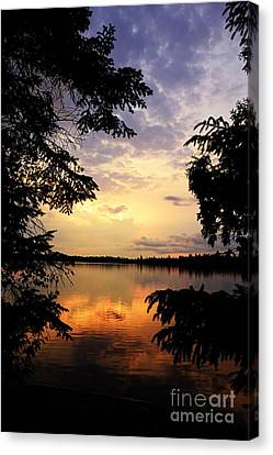 Thomas Lake Sunset 2 Canvas Print