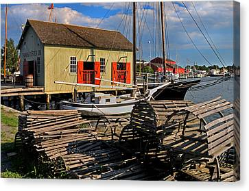 Thomas Oyster Co.- Mystic Canvas Print by Thomas Schoeller