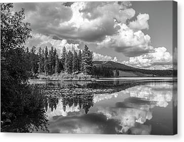 Thompson Lake In Black And White Canvas Print