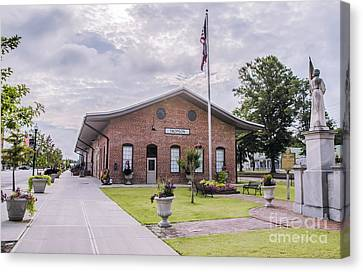 Canvas Print featuring the photograph Thomson Georgia #smalltown by Andrea Anderegg
