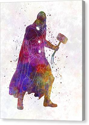 Thor Canvas Print - Thor 01 In Watercolor by Pablo Romero