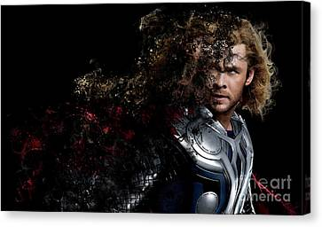 Thor - Chris Hemsworth Canvas Print by Prar Kulasekara
