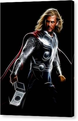 Thor God Of Thunder Canvas Print by - BaluX -