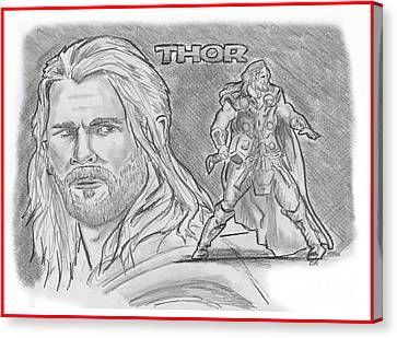 Thor Odinson Canvas Print by Chris  DelVecchio