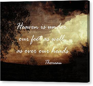 Thoreau Nature Quote Canvas Print by Ann Powell