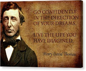 Thoreau Quote 1 Canvas Print by Andrew Fare