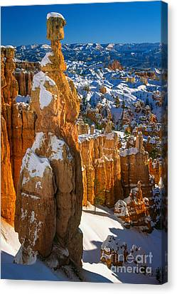 Thors Hammer In Winter Canvas Print by Inge Johnsson
