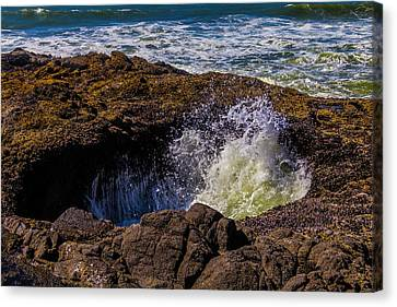 Thor's Well Coastal Oregon Canvas Print