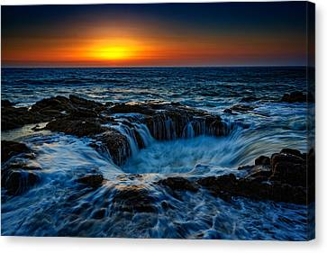 Thor's Well II Canvas Print by Rick Berk