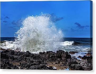 Ocean Canvas Print - Thor's Well Oregon Coast by David Millenheft
