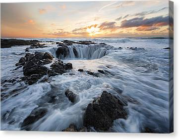 Thor's Well Canvas Print by Ryan McGinnis