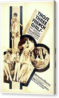 Those Three French Girls 1930 Canvas Print by Mountain Dreams
