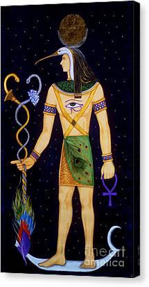 Thoth-djeheuty Canvas Print by Diveena Seshetta