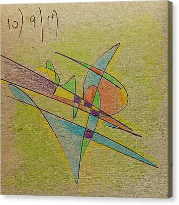 Canvas Print - Thought Pad Series Back Paper by Dave Martsolf