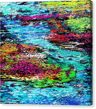 Thought Upon A Stream Canvas Print by David Lane