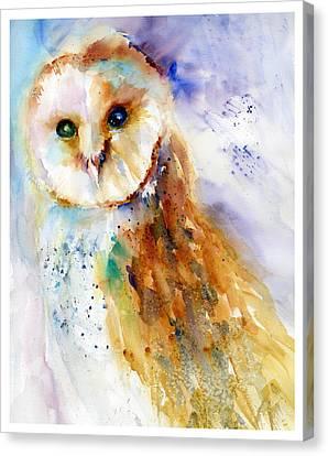Thoughtful Barn Owl Canvas Print by Christy Lemp
