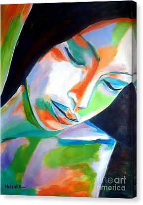 Thoughtful Canvas Print by Helena Wierzbicki