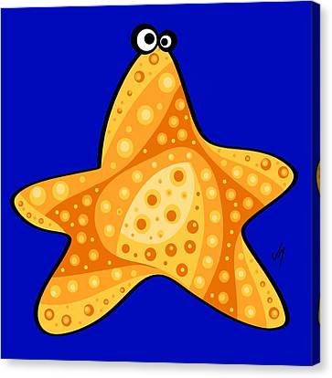 Thoughts And Colors Series Starfish Canvas Print by Veronica Minozzi