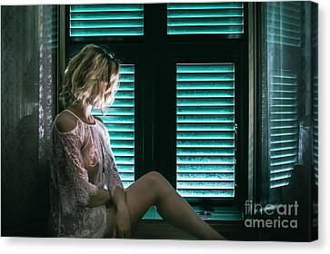 Provocative Canvas Print - Thoughts And Silences by Evelina Kremsdorf