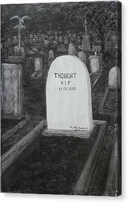 Thoughts  Silent As The Grave Canvas Print by Alex Mortensen