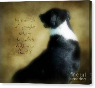 Thoughts - Verse Canvas Print by Anita Faye