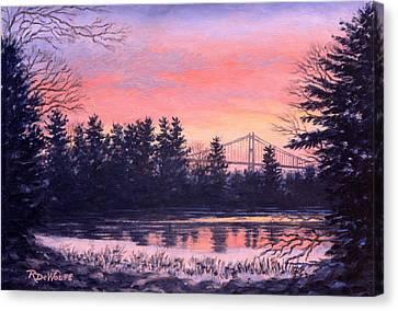 Thousand Island Sunrise Canvas Print by Richard De Wolfe