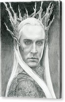 Thranduil The Elven King Of Mirkwood Canvas Print by Bitten Kari