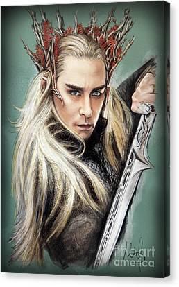 Thranduil / The Hobbit / Canvas Print by Melanie D