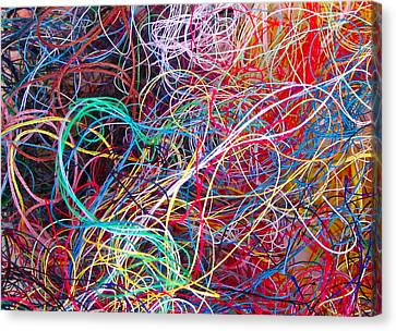 Thread Collection Canvas Print by Gwyn Newcombe