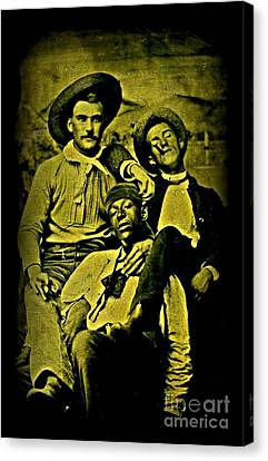 Three 1880s Midwestern Ruffians Canvas Print