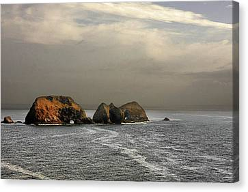 Three Arch Rocks - Oceanside Near Cape Meares - Oregon Canvas Print by Christine Till