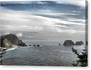 Three Arch Rocks National Wildlife Refuge Near Cape Meares Oregon Canvas Print by Christine Till