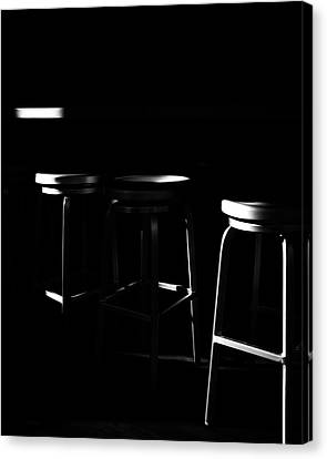 Canvas Print featuring the photograph Three Barstool Sunrise by Bob Orsillo