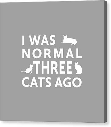 Three Cats Ago Canvas Print by Nancy Ingersoll