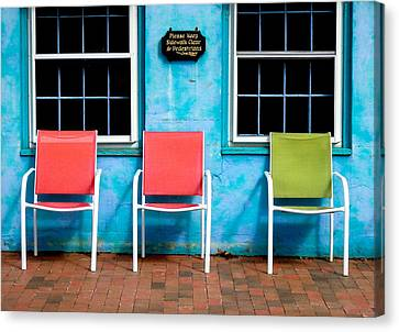 Three Chairs And Two Windows Canvas Print